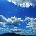 強烈な真夏の青い空~糸崎の丘より~