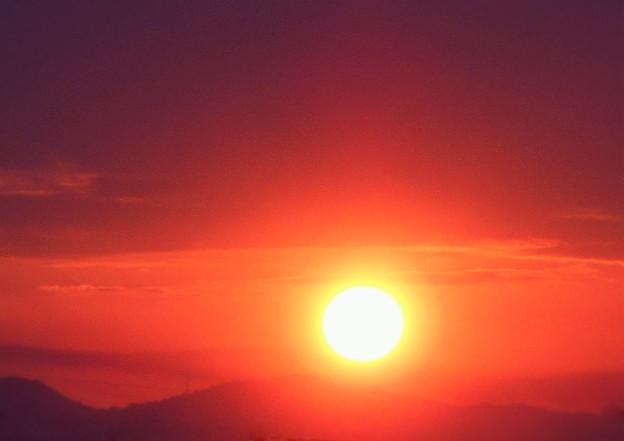秋分の日の 日の出