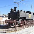 町に展示してあった機関車