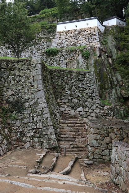 備中松山城の高石垣