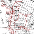 写真: 平成23年度西之町一ツ物神事町廻り地図14日