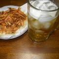 RIMG4583東南アジア風氷入りビールと小エビの素揚げ