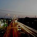写真: 姿川第二小前歩道橋にて
