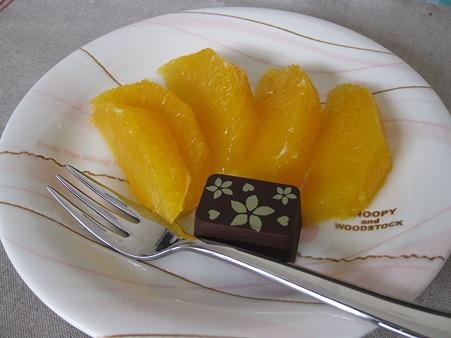 オレンジとチョコの盛り合わせ