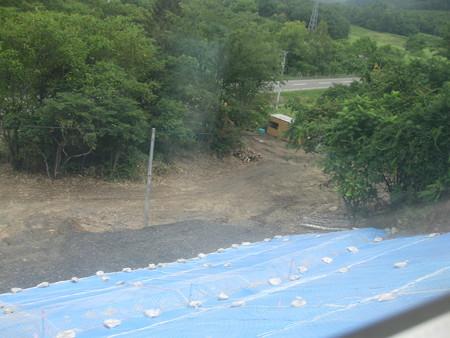 石北本線 土砂流出現場
