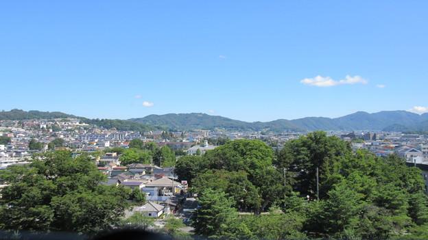 松本城 天守より北(長野県)