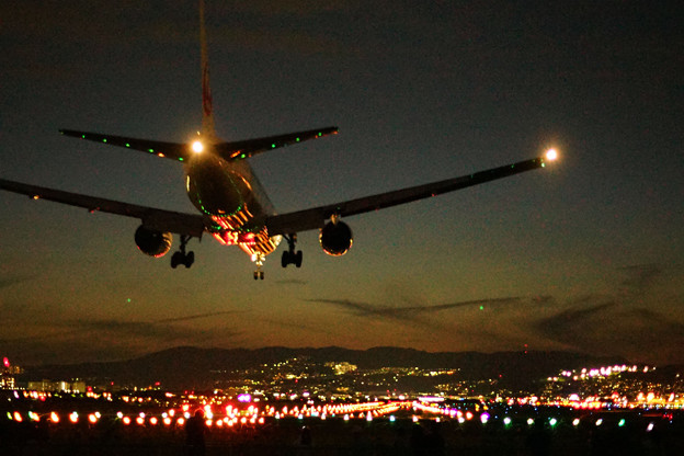 伊丹空港夜間飛行-2