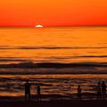 日本海に沈む 夕陽のショー