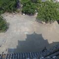 写真: 影の熊本城。