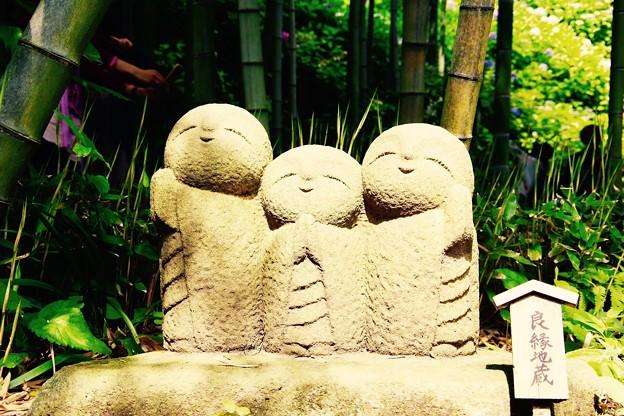 梅雨の晴れ間に。。長谷寺微笑み地蔵。。6月20日