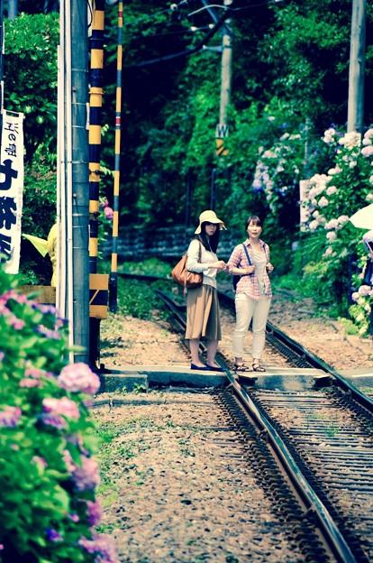 江ノ電 踏切の様々な風景。。(1) 6月20日