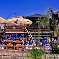青空の香取市 佐原の大祭。。夏の風物詩 山車ねり歩き。。7月11日