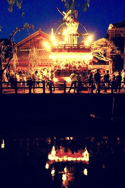川にも光る山車映る。。佐原の大祭7月11日