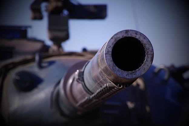 74式戦車 大砲線状痕・・20150111