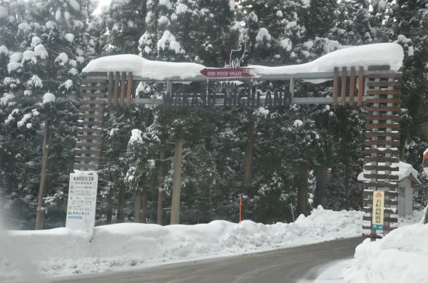 チェーンをつける必要なく、無事にスキー場へ到着