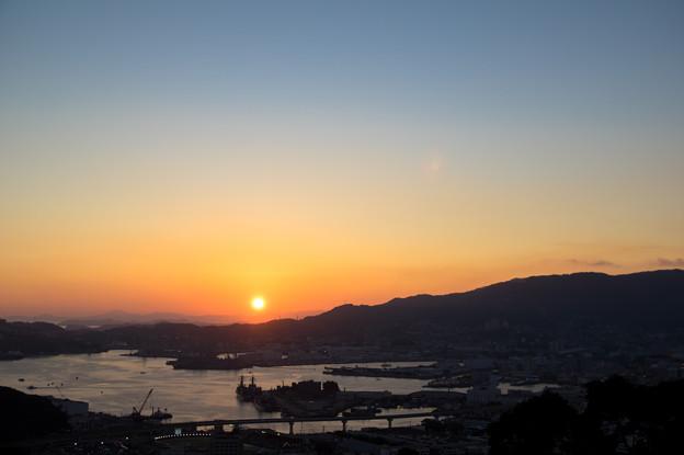 佐世保湾の夕陽♪