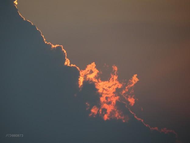 燃えていく雲