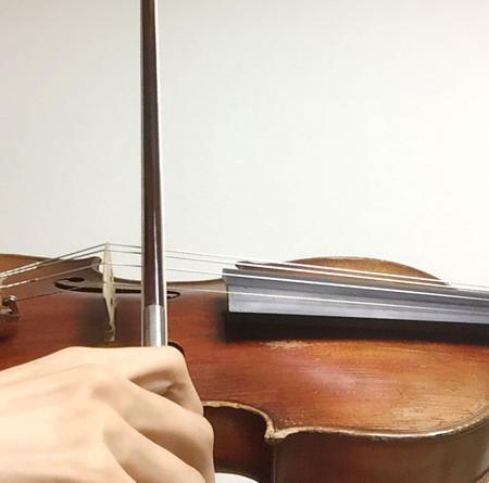 中野・江古田 バイオリン 個人レッスン ヴィオラ 吉瀬弥恵子 ワイズ音楽教室 弓の圧力が乗る弾き方