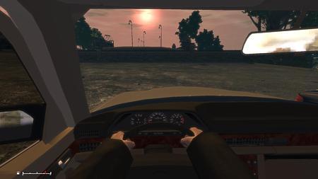 メルセデス・ベンツ W126 車内
